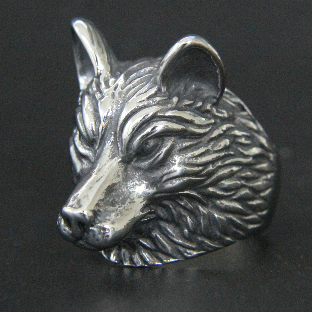 1pc Support Dropship Animal Wolf Head Ring 316L Stainless Steel Jewelry Men Boys Cool Wolf Ring отбойный молоток пневматический wester mh 10