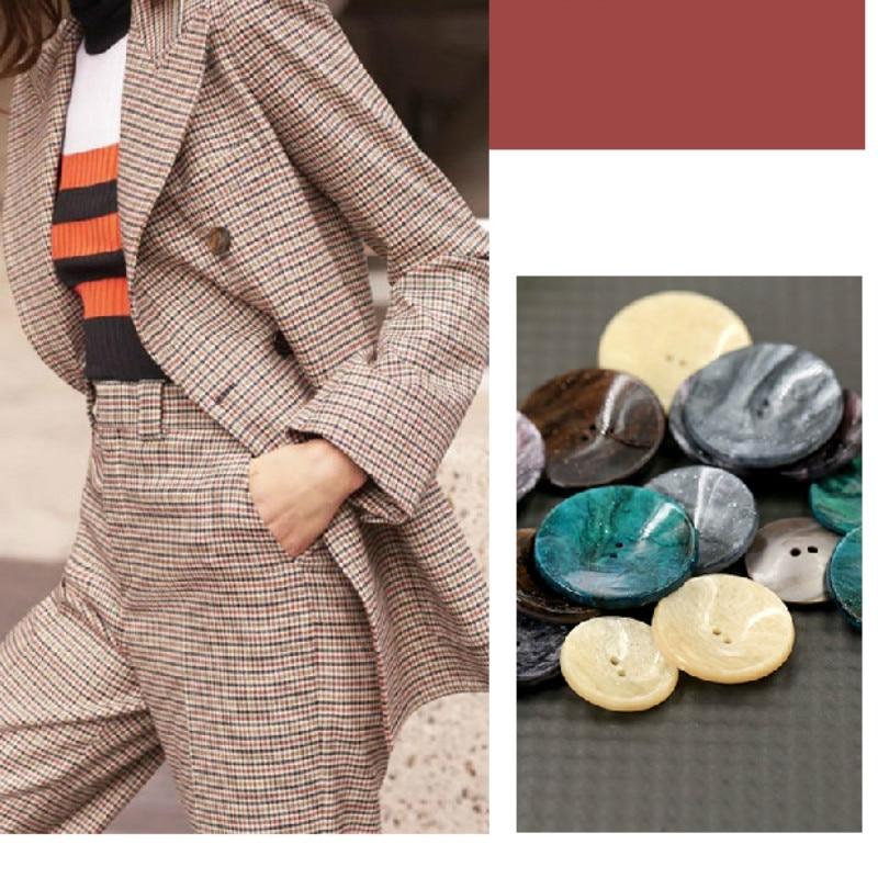 Новые модные пуговицы для одежды ремесла одежды женская одежда аксессуары круглые Пуговицы пластиковые ацетатные волокна бутон Botones