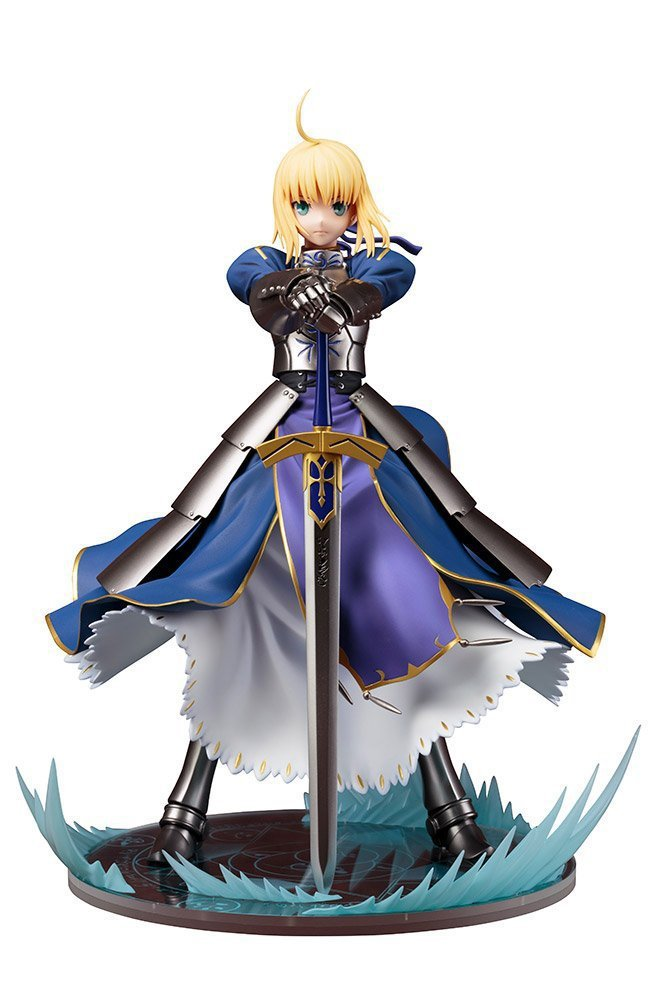 new Fate/stay Night Anime Action Figure King of Knights Saber Altria Pendragon Ver Model toy 26cm anime fate stay night fate zero saber altria pendragon excalibur emiya shirou 25cm pvc action figure toy collection model gift