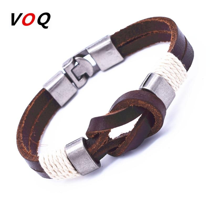 Hot Sale Vintage Bowknot Wrap Bracelet Men Jewelry Zinc Alloy Charm Genuine Leather Bracelets For Women Gifts G7-9