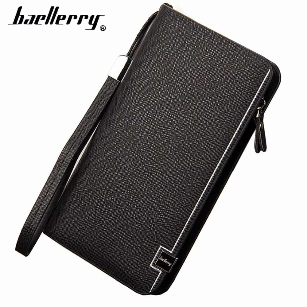 Baellerry роскошные мужские портмоне Одежда высшего Качества Классические Бизнес бумажник для Для мужчин большой Ёмкость держатель для карт многоцелевой кошелек бумажник