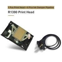 R1390 печатающая головка Оригинал F173050 Печатающая головка для Epson 1390 1400 1410 1430 R1390 R360 R260 R270 R380 R390 RX580 L1800 с демпфером