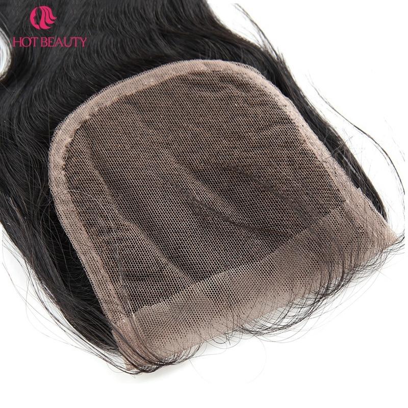핫 뷰티 헤어 클로저 브라질 바디 웨이브 클로저 - 인간의 머리카락 (검은 색) - 사진 6