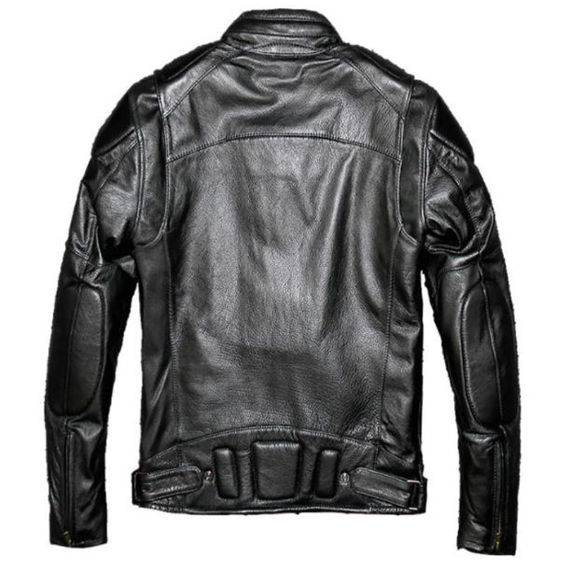 European Style Automotive Harley Genuine Leather Jacket Mens XXXXXL Streetwear Winter Warm US Style Mens Real Leather Coats A580