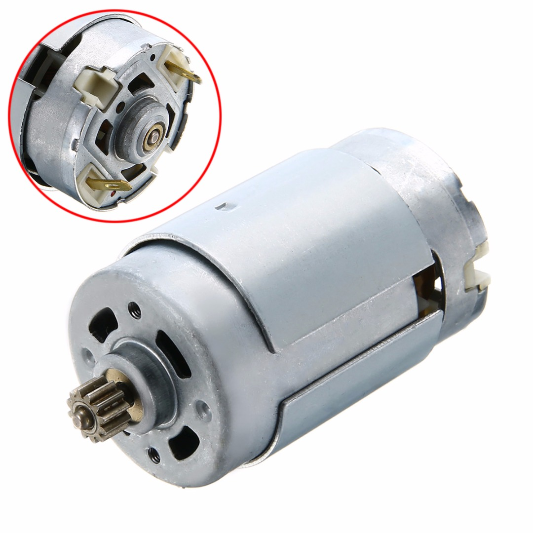 New 12V 16.8V 18V Electric <font><b>RS550</b></font> Motor <font><b>12</b></font> Teeth Gear 3mm Shaft Dia. For Cordless Charge Drill Motor Replacement Parts image