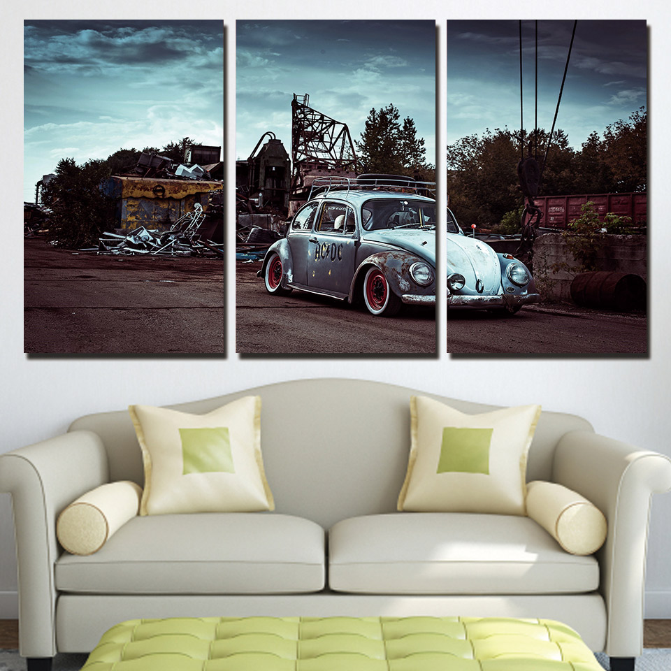HD Printed Modular Pictures Frame For Living Room Canvas Posters 3 Pieces Wall Art Classic Car Beetle Painting Home Decor PENGDA