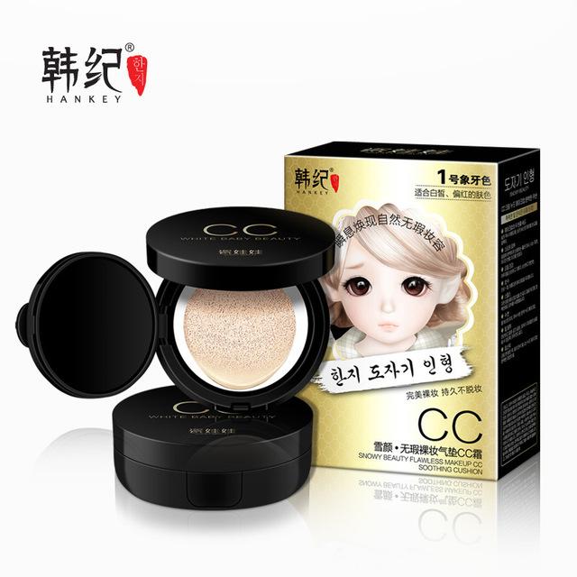 Brighten BB Crema Facial Natural Nutritiva Hidratante Blanqueamiento Cremas BB Colchón de Aire Crema CC Maquillaje Nude Corrector Protector Solar