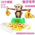 Regalo de cumpleaños del bebé de juguete de plástico mono plátano saldo mtach number escritorio juego de diversión familiar entre padres e hijos interactivo educativo
