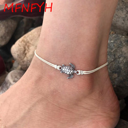 Mfnfyh silver tortoise turtle anklet barefoot sandal beach foot jewelry ankle bracelet cheville bohemian style anklets.jpg 250x250