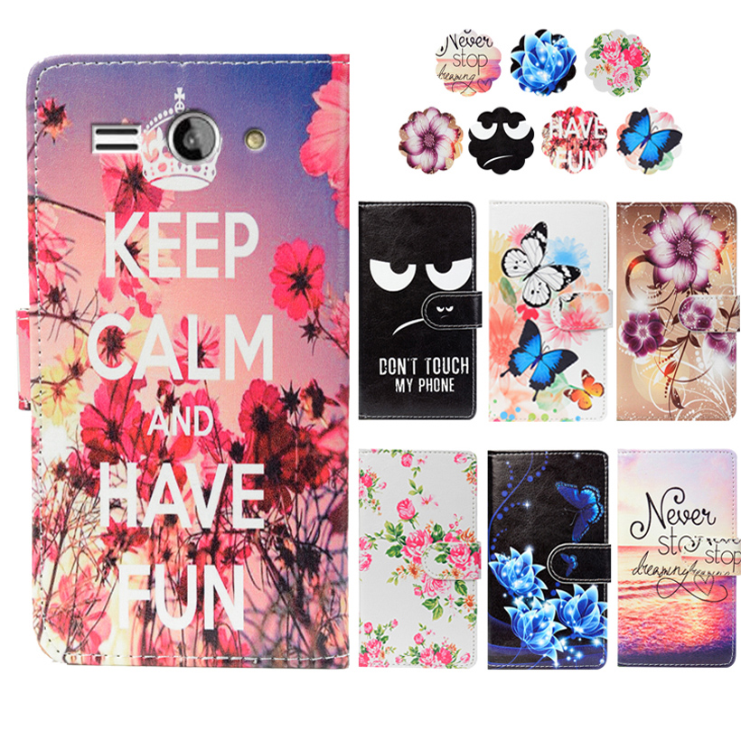 Fashion PU Leather Flip Print Wallet Case For BQ BQS-5001 Milan Case Cover Book Case 5.0 Ultra-thin Phone Cover