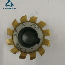 Geel coating HSS DP10 DP11 DP12 DP13 DP14 DP16 DP18 DP20 DP22 DP24 Gear Hob Cutter PA20 graden
