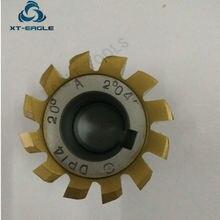 Máquina cortadora de engranajes, recubrimiento amarillo HSS DP10 DP11 DP12 DP13 DP14 DP16 DP18 DP20 DP22 DP24 PA20 degree