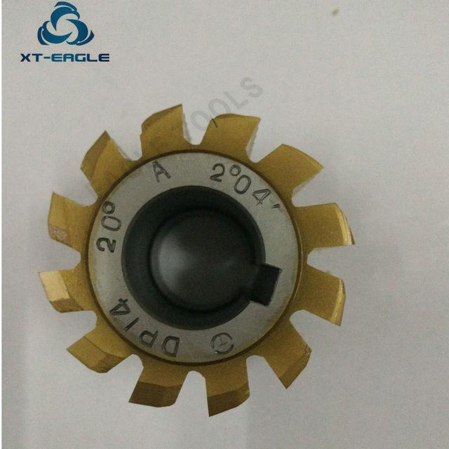 Yellow coating HSS DP10 DP11  DP12  DP13  DP14 DP16 DP18 DP20 DP22 DP24  Gear Hob Cutter PA20 degree