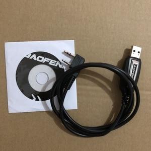 Image 1 - Baofeng USB תכנות כבל נהג CD עבור UV 5R UV 5RE Pofung UV 5R uv5r 888S UV 82 רדיו מכשיר קשר תכנית כבל