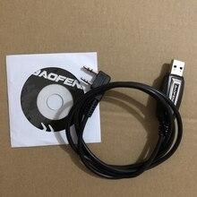 Baofeng usb programação cabo driver cd para UV 5R UV 5RE pofung uv 5r uv5r 888s UV 82 rádio walkie talkie programa cabo