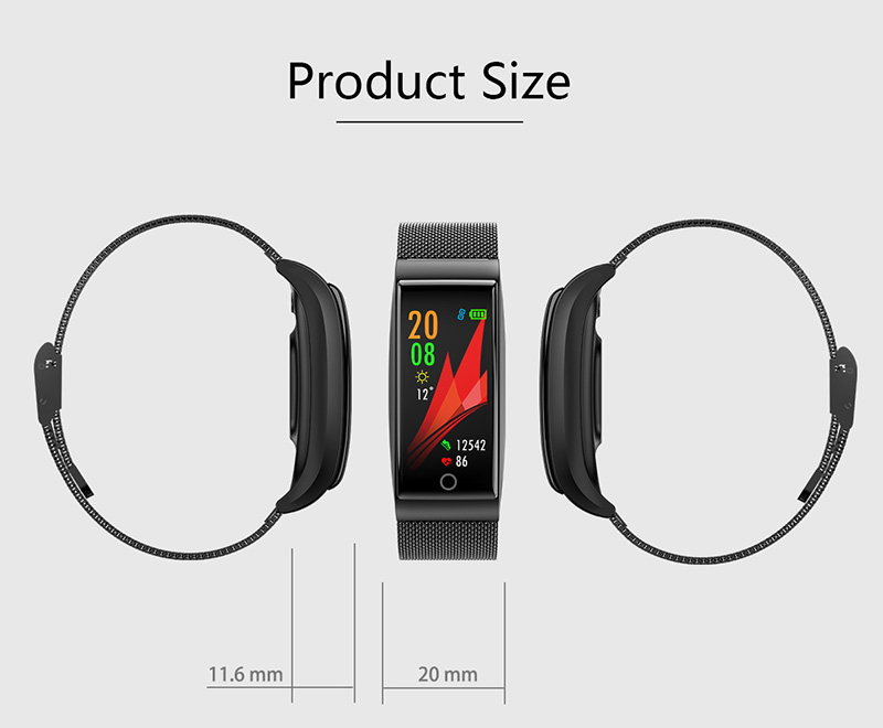 Foto of product size Smart waterproof watch with pedometer. Smart waterproof watch with heart rate monitor
