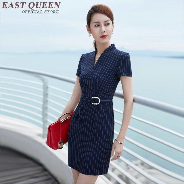 90520a517 Las mujeres ropa de rayas de oficina vestido para Oficina de Trabajo vestidos  para las mujeres