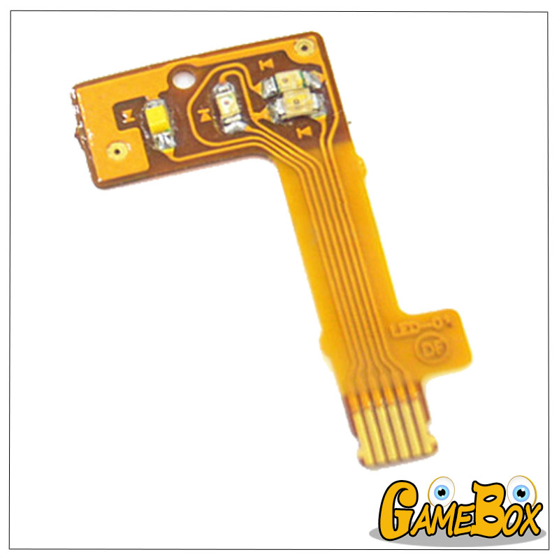 Original Power Light Flex Cable for NintendNDSI Power ON/OFF LED Ribbon Flex Cable forNDSI Game Console Replacement