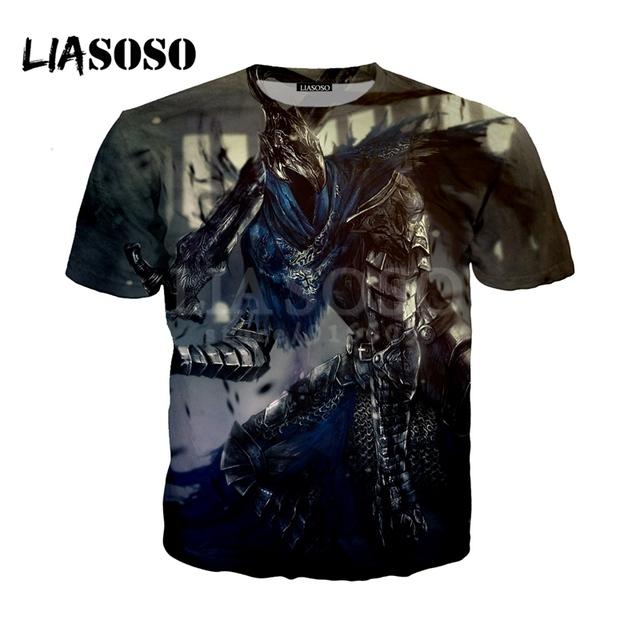 LIASOSO NEW Game Dark Souls 1 2 3 Praise The Sun shirts 3D Print t shirt/Hoodie/Sweatshirt Unisex Hipster Funny Cool Tops G1358