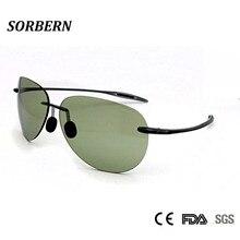 SORBERN New Cool Rimless Sunglasses Women Men High Quality Ultralight TR90 Round Sun Glasses Nylon Lens Summer Goggles UV400