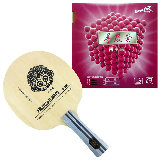 Galaxy YINHE HUICHUAN 606 Table Tennis Blade With 2x Reactor Corbor Rubbers With Sponge for a Ping Pong Racket FL