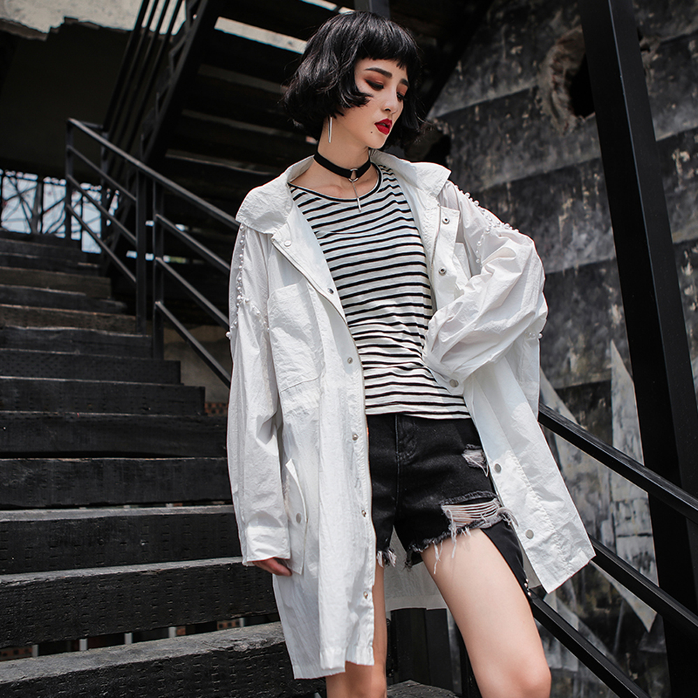 Donne Hop Streetwear Stile Befree Delle Cappotto Allentato Hip Lunga Colore Sz1915 Bianco Di Giacca Harajuku Solido white Coreano Base Casual Pink cZnTEWATY