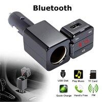 New Hands Free Bluetooth Car FM Transmitter USB Charger Cigarette Lighter Adapter Car Mp3 Player Bluetooth