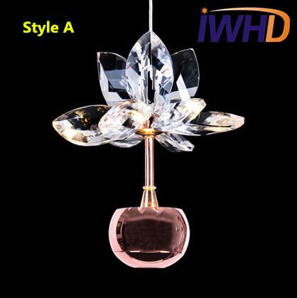 Modern Flower Crystal LED Pendant Lights Creative Fashion Pendant Lamp New Fixtures For Home Lightings Bar Hanging Lamp Lamparas new design nature white 2heads 6w 30cm led modern crystal wall lights lamp sconce factory wholesale led lightings