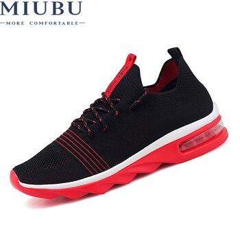 3f53e97f MIUBU zapatos casuales pareja amante Mens malla zapatos hombres zapatillas  verano moda transpirable encaje hasta zapatos de los planos