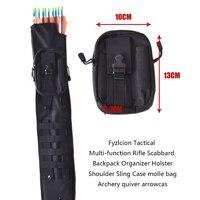Fyzlcion Tactical Multi Function Rifle Scabbard Backpack Organizer Holster Shoulder Sling Case Molle Bag Archery Quiver