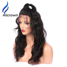 Alicrown Body Wave Lace Front Human Hair Wigs For Black Women Pre Plucked Brazilian Remy Hair Wigs Bleached Knots Baby Hair