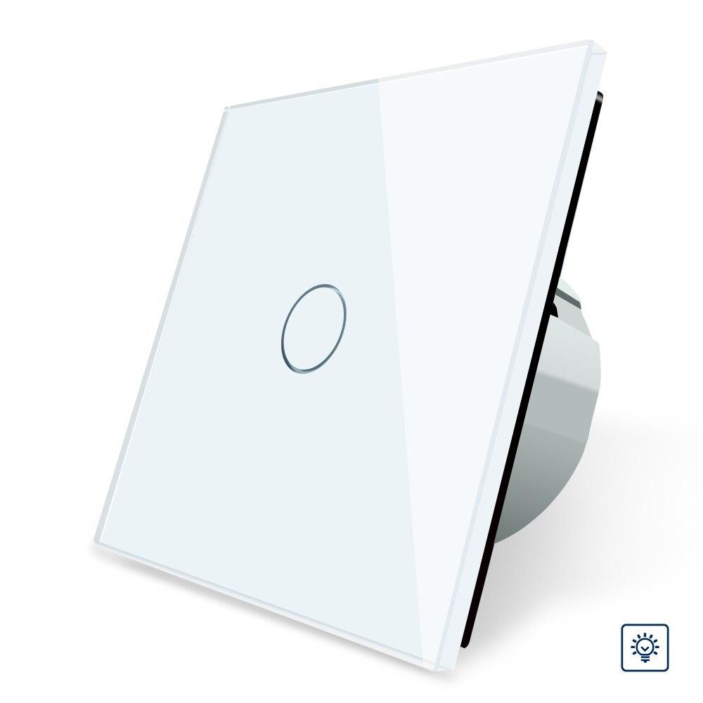 2017 EU Standard Dimmer Switch, Wall Switch, Crystal Glass Panel, 1 Gang 1 Way Dimmer touch switch eu standard dimmer