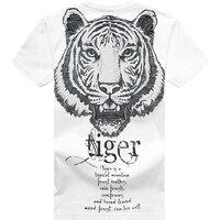 Free shipping tiger tops big size o neck t shirt Tees Animal fat guy plus size men's Casual short sleeve T shirt 2XL 8XL 155cm