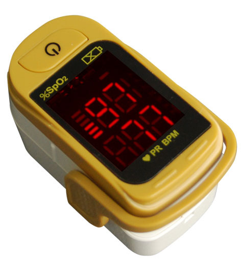 24pcs Health Care Choicemmed Yellow LED Finger Pulse Oximeter Blood Oxygen SpO2 Saturation Oximetro Monitor MD300C1D