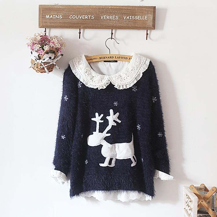 New winter deer sweater women christmas sweater women Discount promotion Fashion sexy sell like hot cakes