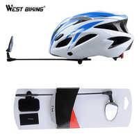 WEST BIKING зеркало для велосипедного шлема плоский легкий 360 градусов велосипедный шлем Крепление зеркало заднего вида велосипедный шлем зерка...