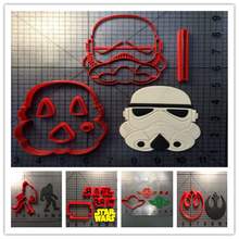 Custom Made 3D Printed Star Wars Logo Fondant Cookie Cutter set