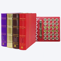 144 Coins Collection Book 27.5*25CM 6 Sheets Round Box Protection Booklet Coin Holder Album Banknote Currency Album For Coins