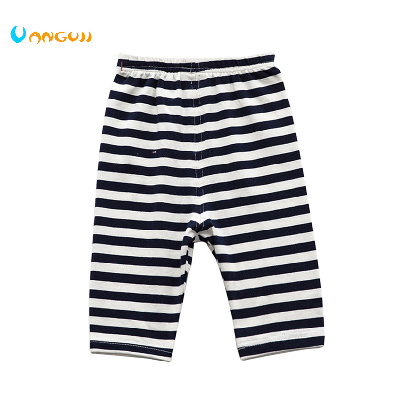 Low price clearance handling children's striped shorts 0-6 years old boys 50% long pants Knitted casual all match summer image