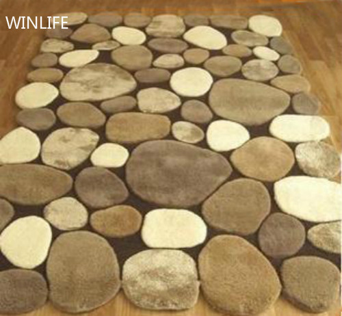 WINLIFE Simple Stone Carpet Custom Made Modern Area Rugs for Living Room/Hall/Bedroom/Study Room/Coffee Table Floor CarpetWINLIFE Simple Stone Carpet Custom Made Modern Area Rugs for Living Room/Hall/Bedroom/Study Room/Coffee Table Floor Carpet