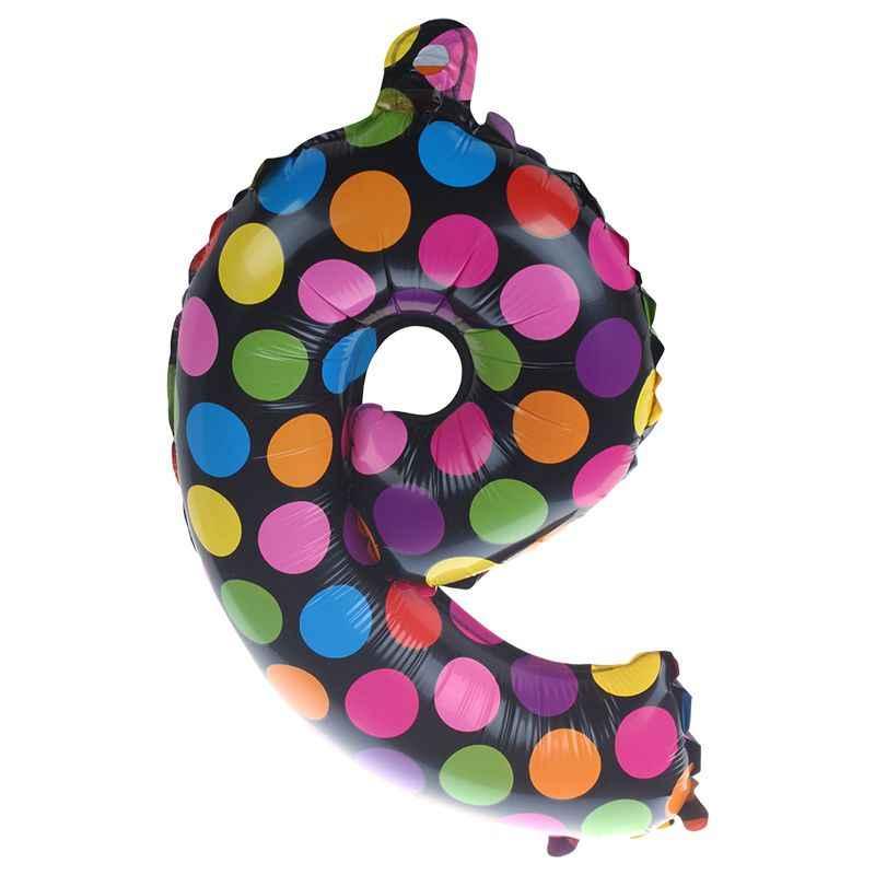 ของเล่นเด็ก Inflatable การ์ตูนจุดจำนวนบอลลูนฟอยล์วันเกิด PARTY อุปกรณ์ตกแต่งของเล่นเด็กบอลลูน (จำนวน 9) 16