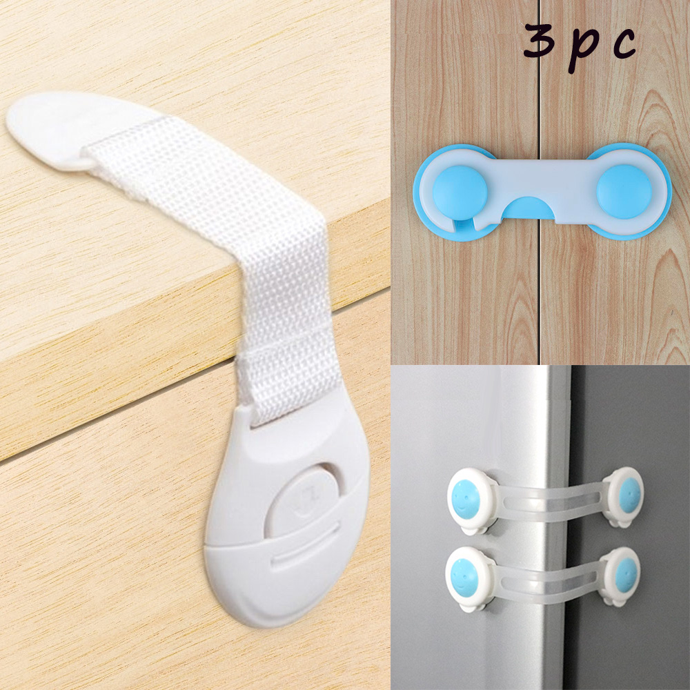 TYRY.HU 3pc Baby Safety Lock Drawer Lock Kids Cabinet Locking of Children Protection Doors Locking Baby Security Products