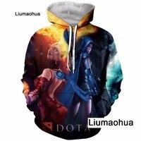 Liumaohua2018 new men and women hoodie video game DOTA2 hoodie 3D color printing men and women casual top brand clothing M005