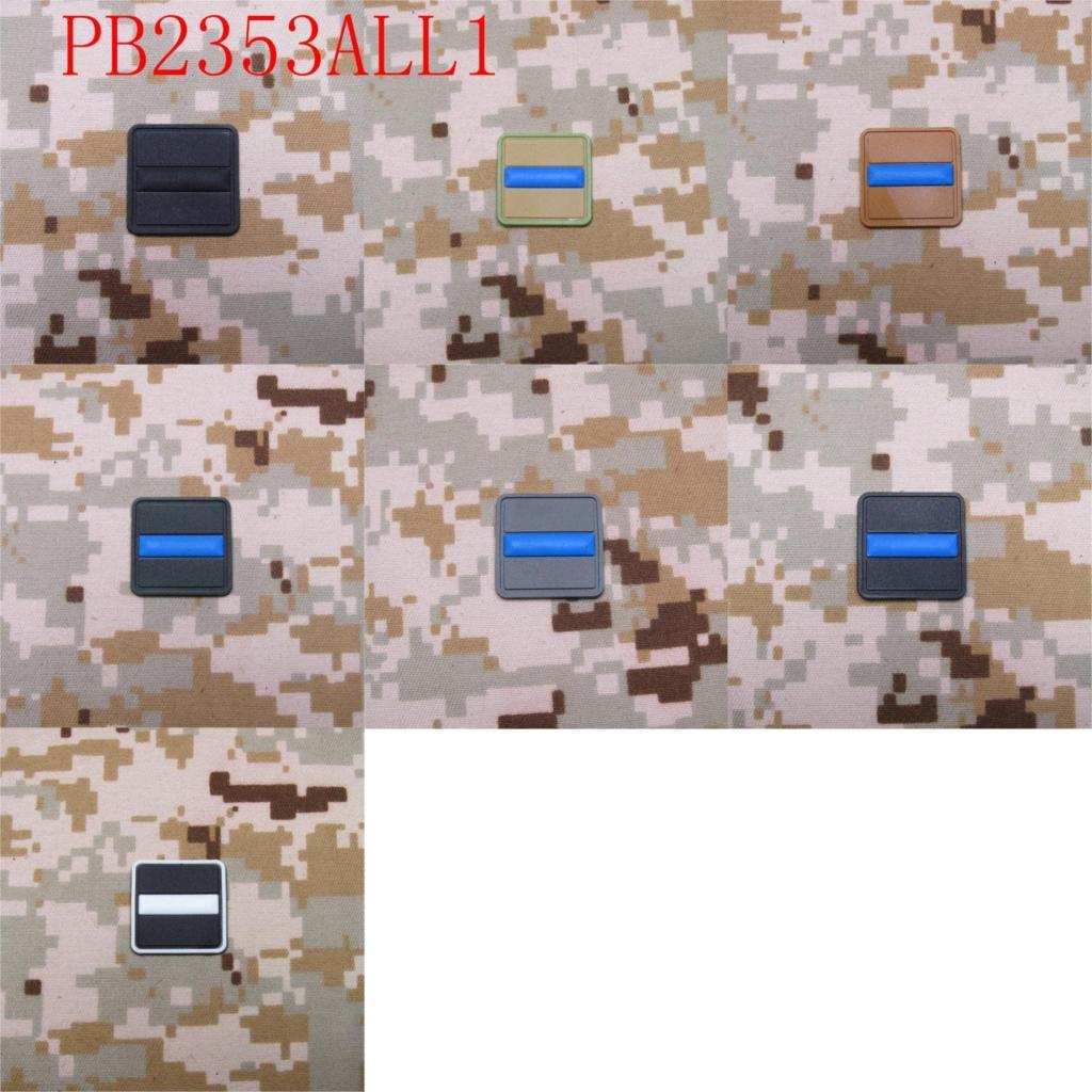 2 gabali Plāns zilas līnijas karogs Police SWAT 3D PVC - Māksla, amatniecība un šūšana