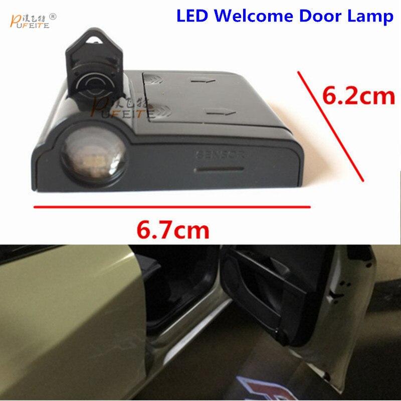 2pcs Door Logo Light For VW Golf 4 5 7 6 3 2 1 MK4 MK5 GTI  Antenna MK2 MK3 VR6  MK6 MK7 Car LED Projector Warning Lamp sticker turbo discharge pipe conversion kit for vw golf gti mk5 mk6 audi tt a3 2 0t