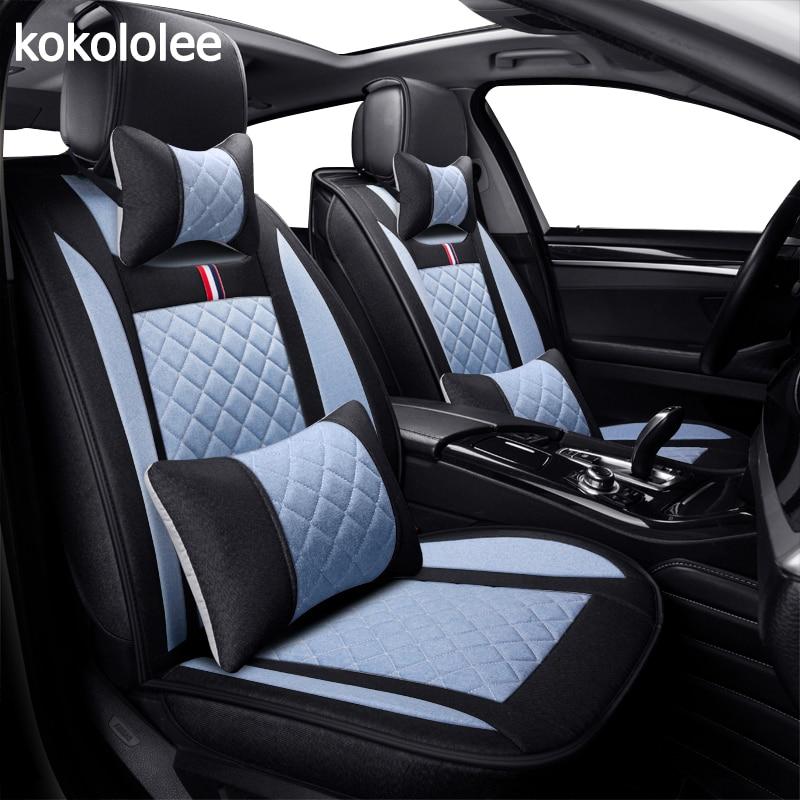 KOKOLOLEE lino Auto Car seat covers universale per Solaris HYUNDAI Getz Elantra Accento Tucson Sonata i30 ix35 3D auto- styling