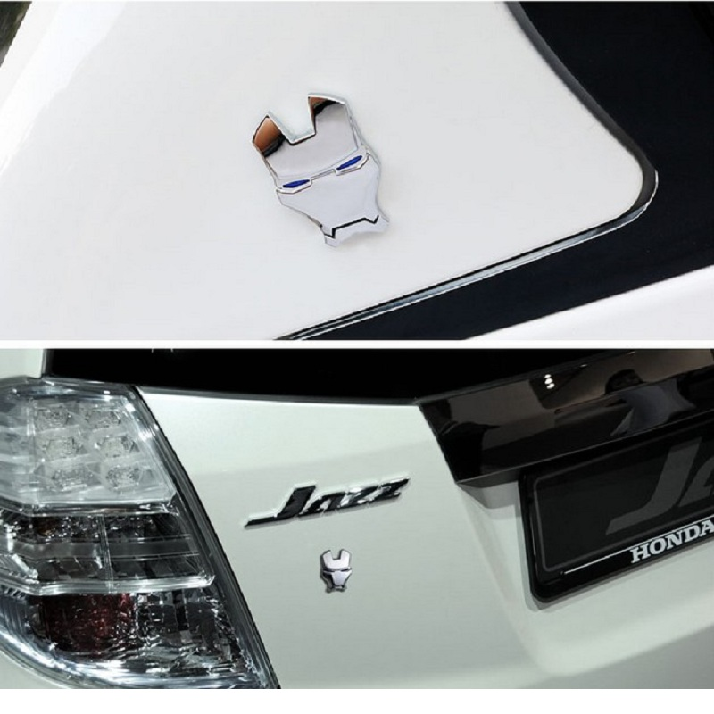 Gold 3D Metal Iron Man Mask Avengers Car Auto Trunk Emblem Badge Decal Sticker