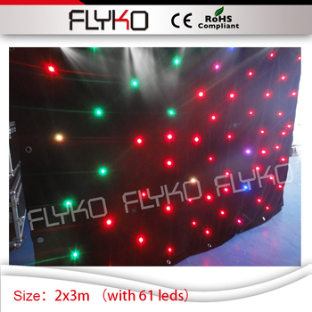 wholesale price soft led backdrop star display effect 2x3m star curtain with 61 leds|led backdrops|led soft curtain|led backdrop curtain -