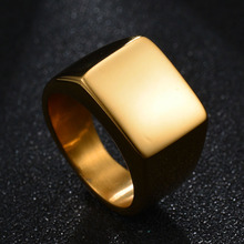 New Men's High Polished Signet 316L Solid Ring Stainless Steel Ring Biker Unique Ring for Men Party Gift