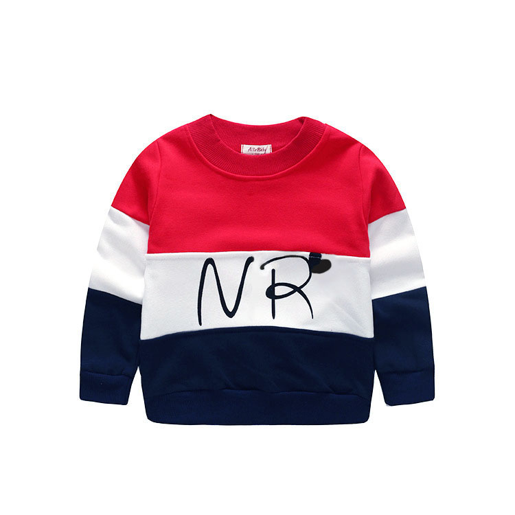 2018Designer Boys Sweatshirt Cotton t shirt for Boys Cartoon Outwear 4-7years Kids clothes spring autumn boys tops tees clothes